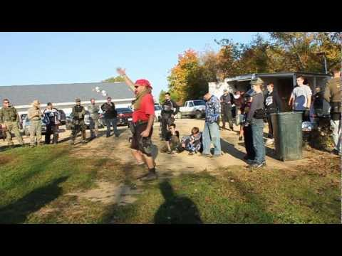 Lone Wolf Paintball's Alien Invasion Game - Raw Footage #2