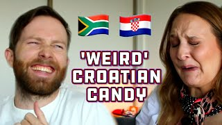 South Africans try Croatian Candy!