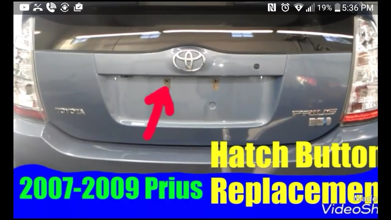 2007 2009 Prius Rear Hatch On Replacement