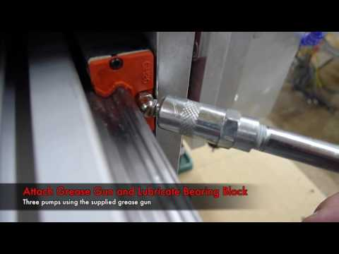 How to Lubricate Your CNC Router Parts Bearing Blocks (Profile Linear Rail-based Machines)