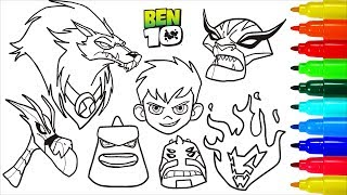 Ben 10 Coloring Games Online Ben10 Omniverse Coloring Pages Games