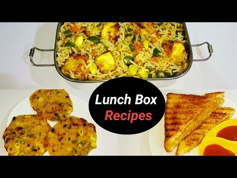 3 Healthy Lunch Box Recipes (Part 1) For kids In Telugu With Eng Subtitles| 3 Indian Lunch Box Ideas