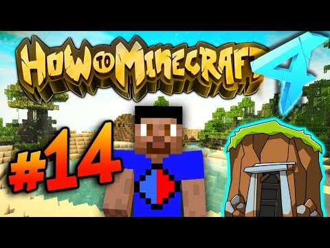 SEARCHING FOR ABANDONED MINESHAFT! - HOW TO MINECRAFT S4 #14