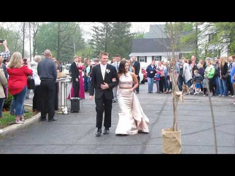 Maddie Easter and Landon Diehl 2017 Elwood High School Prom Introduction 4-29-2017