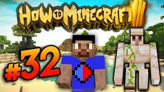 How To Minecraft S3 #32 'IRON GOLEM FARM!' with Vikkstar