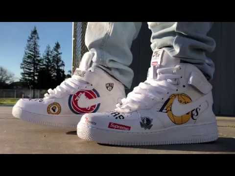 bc0a8bbcbde0 SUPREME NBA AIR FORCE 1s ON FOOT VIDEO! - YouTube
