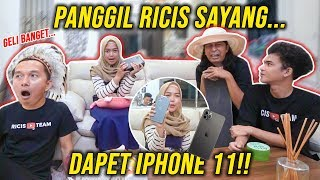 Cieee ROMANTIS 💕 KASIH IPHONE 11 BAGI YANG PANGGIL RICIS SAYANG!!