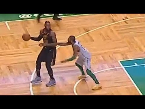 Kyrie Irving Tries to Guard LeBron James then LeBron Stares Him Down After Making Easy Bucket