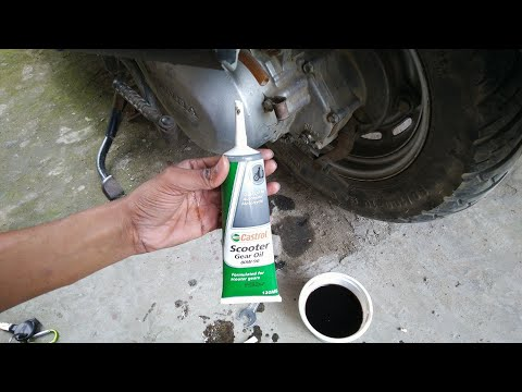 Honda Activa Gear oil change | Castrol gear oil