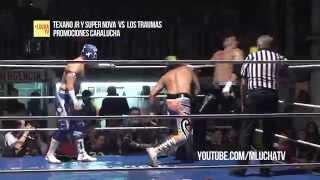 Texano Jr. y Súper Nova vs Trauma I y Trauma II, Arena San Juan Pantitlán