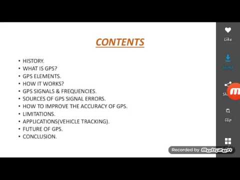 Global Positioning System...G.P.S.  part 1- A lecture ..by...Gaurav Gauri