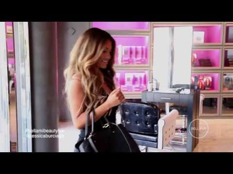 Jessica Burciaga visits the NEW **BELLAMI Beauty Bar**