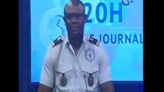 Un Lieutenant craque et chie dans son froc en plein direct du journal télévisé gabonais.