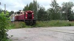 Tavarajuna T2874 matkalla Lahdesta Heinolaan. Freight train T2874 to Heinola