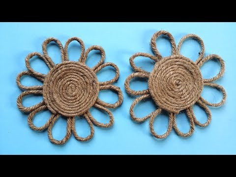 How to Make a Easy Decorative Twine / Jute Flower !!!