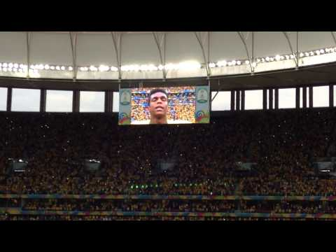 BRAZIL X NETHERLANDS (National Anthem) - Stadium Nacional - Brasilia