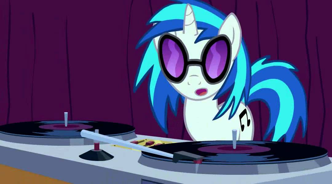 vinyl scratch takes off her glasses youtube