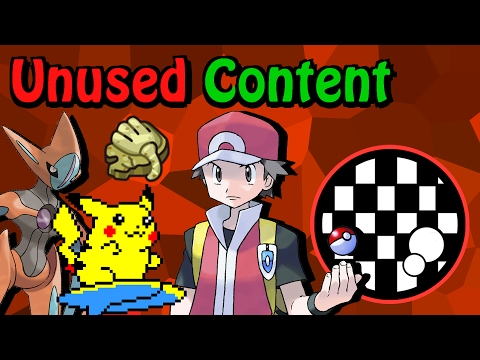 Unused Content: Pokemon FireRed and LeafGreen