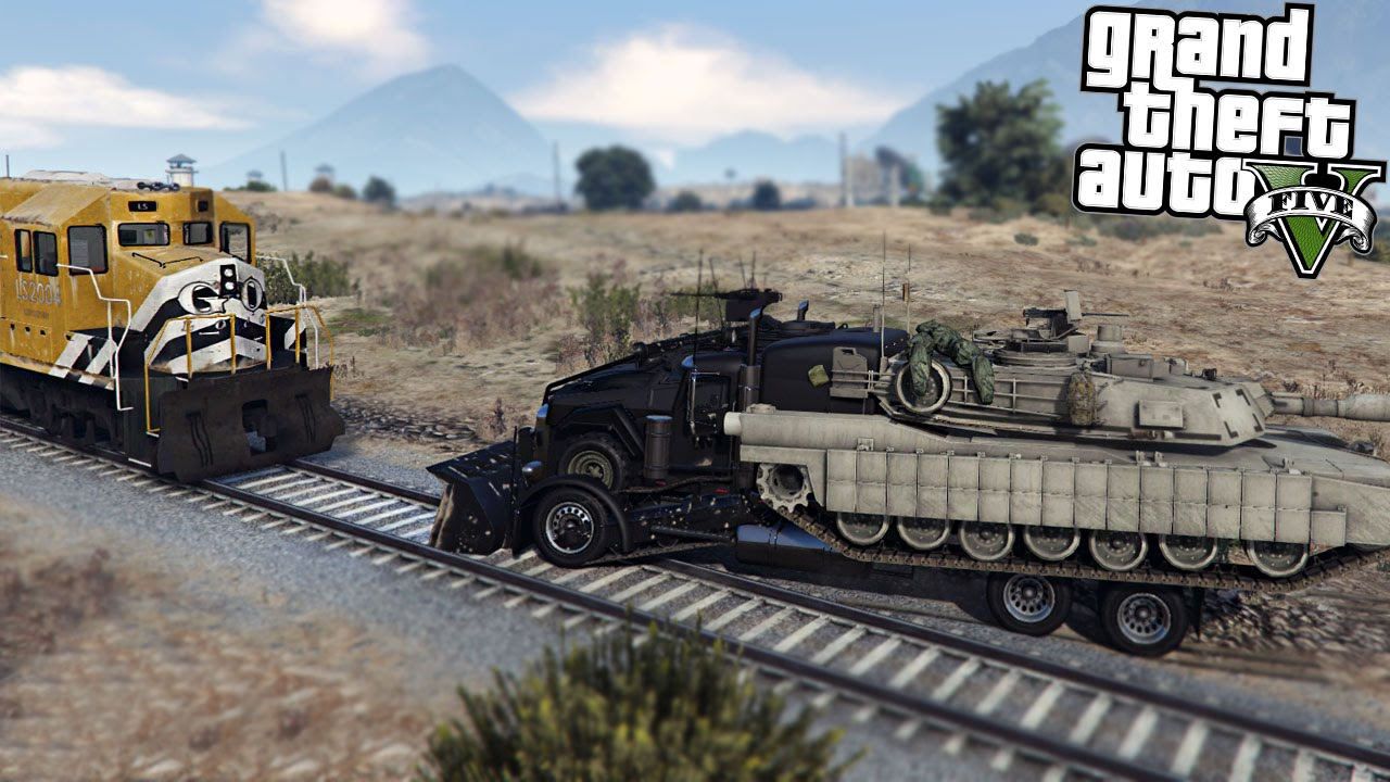 GTA 5 Mods ROAD WARRIOR vs TRAIN