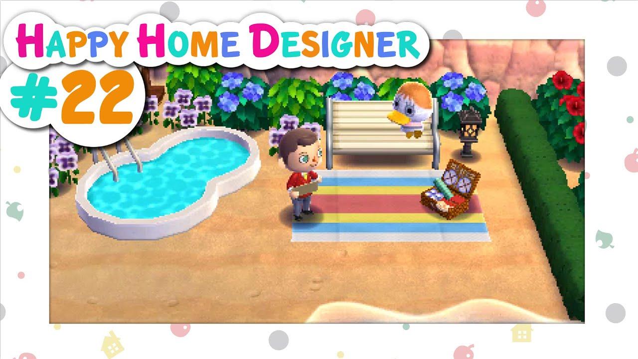 Animal Crossing Happy Home Designer 22 Splashy Time Youtube