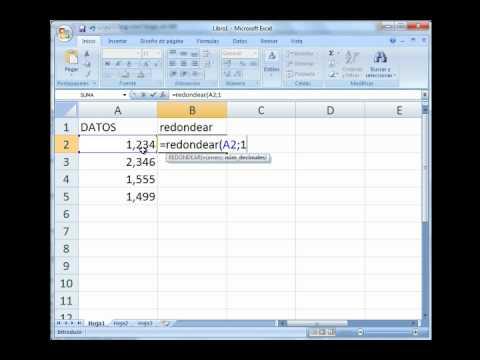 Excel Formulas Redondear Redondear Mas Redondear Menos