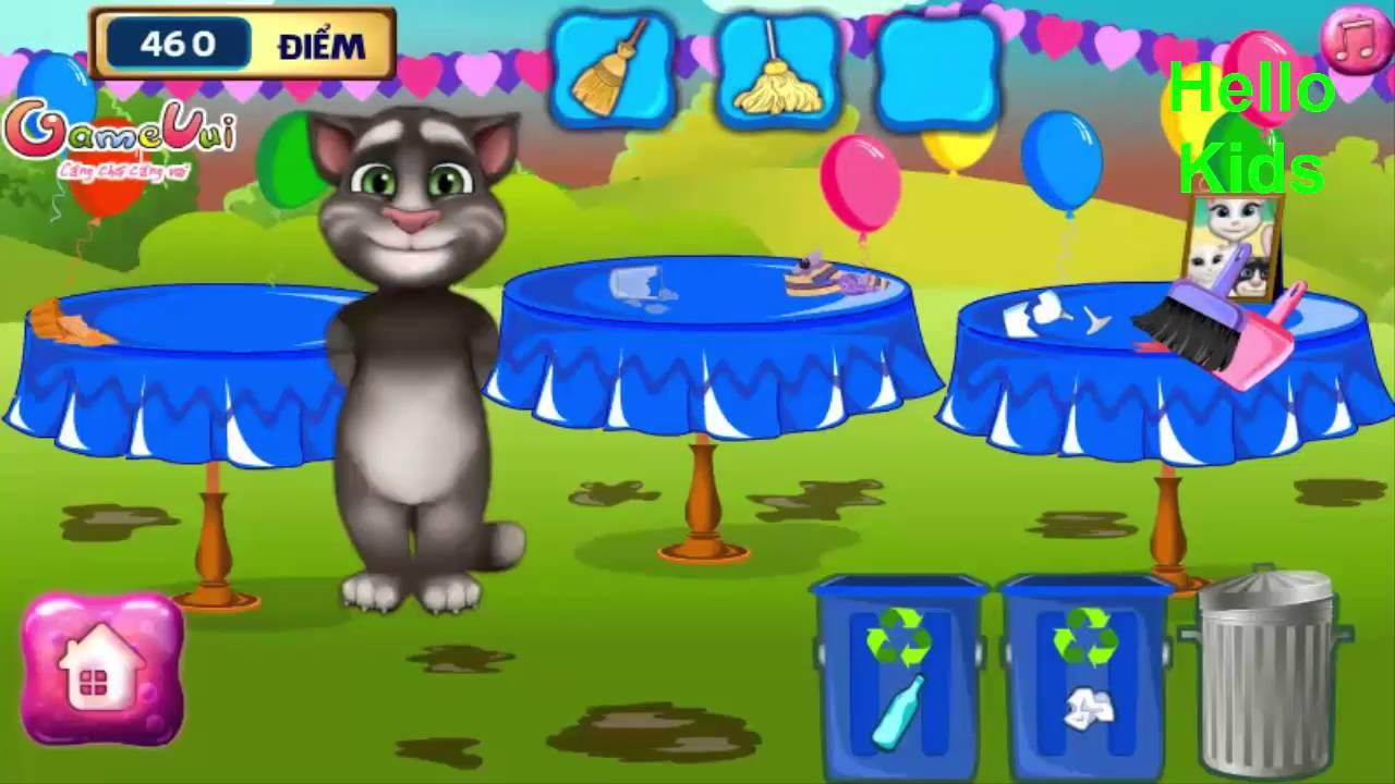 Game mèo tôm dọn dẹp,mèo tôm vẽ tranh ,mèo tôm xếp hình