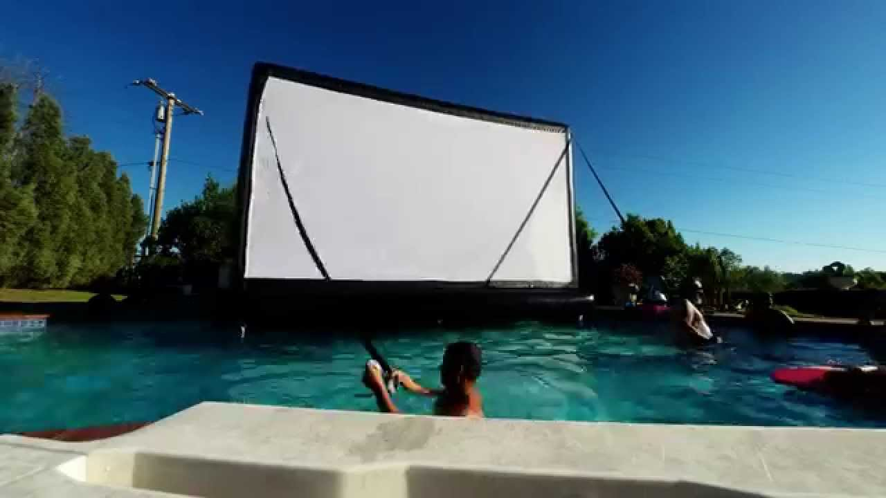Floating Movie Theater Outdoor Movie Night Floating Inflatable Movie Screen In Swimming Pool