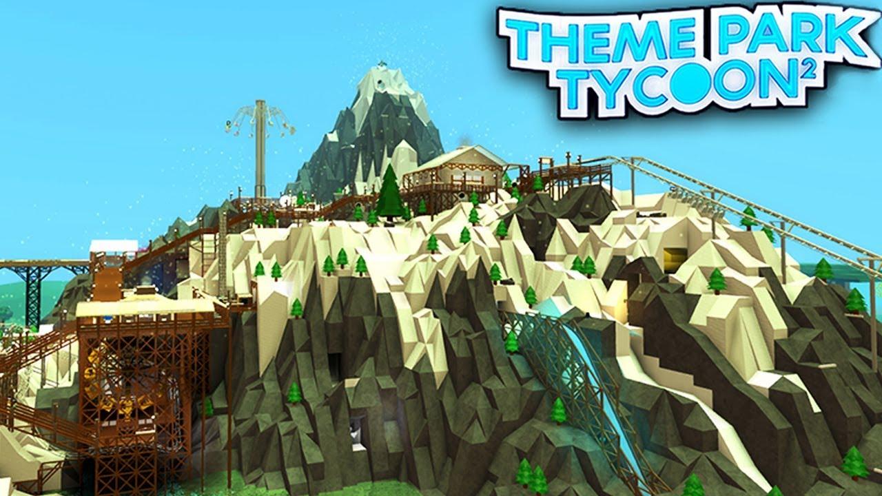 Mountain Ski Lodge In Theme Park Tycoon 2 Roblox Youtube