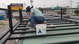 혼자서 농막 만들기 6편  - 농막 지붕 데크만들기, …