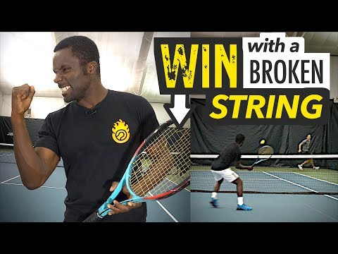 How to WIN points with a broken string! - tennis lesson