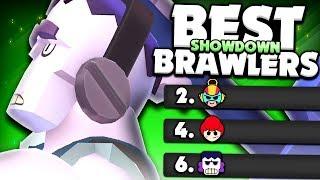 Pro's Top 5 BEST Brawlers In Showdown! - Brawler Rankings - Brawl Stars