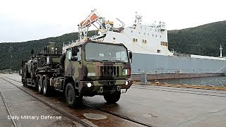 First Shipload of Military Equipment Errives in Norway for Trident Juncture 2018