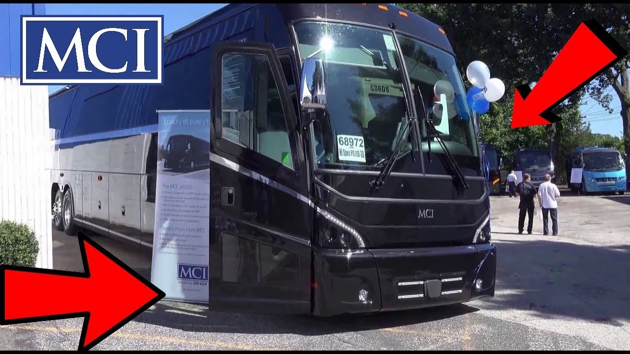 Brand New 2018 MCI J4500 Luxury Coach Inside Outside Engine Compartment &  Driver Area