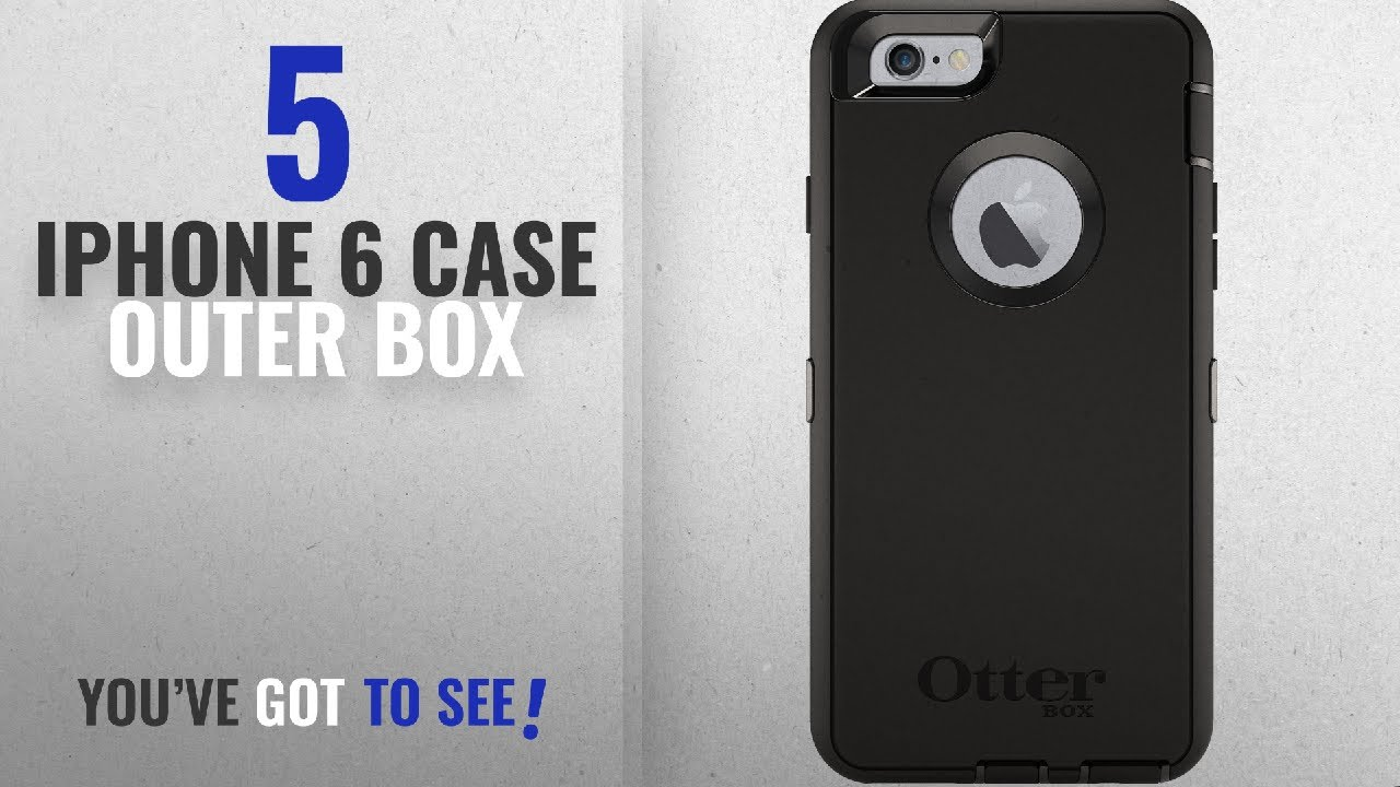 promo code bfa01 e8aef Top 5 IPhone 6 Case Outer Box [2018 Best Sellers]: OtterBox Defender Series  for iPhone 6 - Black