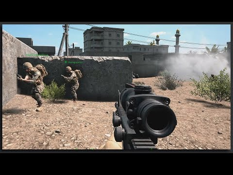 MASSIVE US INFANTRY ASSAULT INTO CITY - Tactical Multiplayer Squad Gameplay (Squad Full Game)