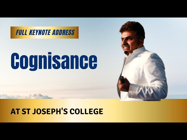 Keynote address at St Joseph's College Bangalore