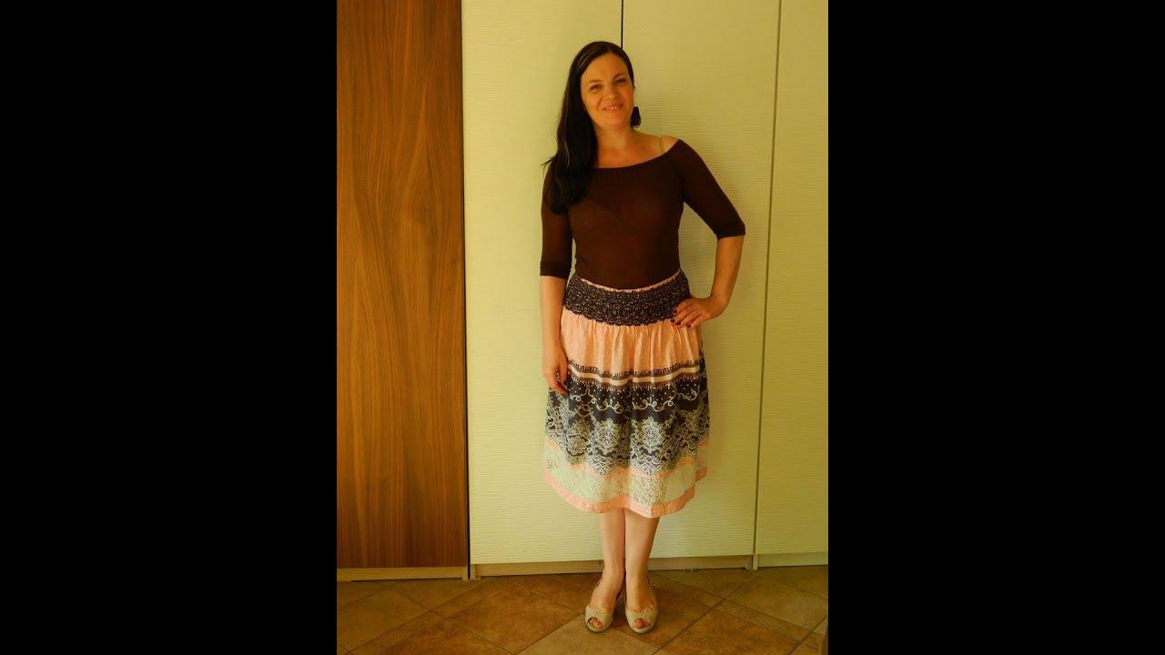 06f8899065d Как сшить юбку без выкройки. Простая юбка на кокетке резинке. Часть1 ...