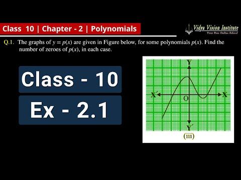Polynomials | # 2 | Exercise 2.1 | Class 10 | NCERT | Maths