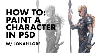 How To Paint A Character in Photoshop Live Demo