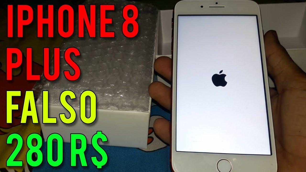 UNBOXING IPHONE 8 PLUS POR 280R$ (WISH)