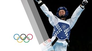 Wu Jingyu Win's Women's -49kg Taekwondo Gold - London 2012 Olympics(Check out the brandnew Olympic Channel: http://go.olympic.org/watch?p=yt Highlights as China's Wu Jingyu Win's the Women's -49kg Taekwondo Gold during ..., 2012-08-08T23:14:05.000Z)