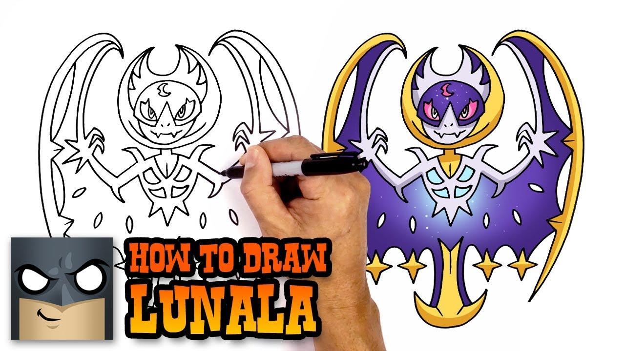 How to draw lunala pokemon youtube how to draw lunala pokemon altavistaventures Choice Image