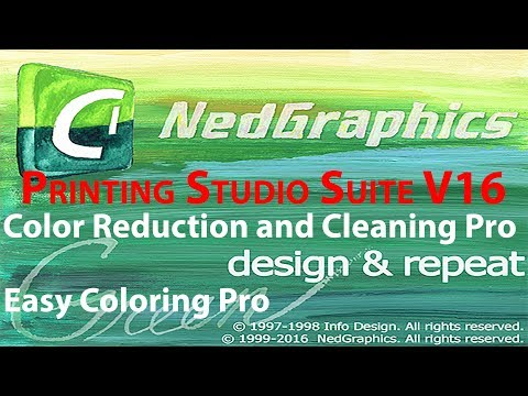 Nedgraphics Printing Studio Suite V16 ( Design & Repeat Pro,  Color Reduction & Cleaning Pro& Others