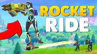 Can you ROCKET RIDE the QUAD LAUNCHER In Fortnite Mythbusters