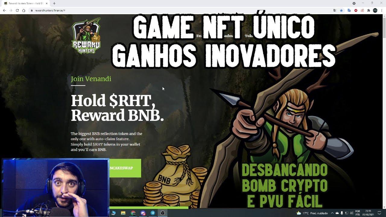 REWARD HUNTERS - NOVO GAME NFT COM SISTEMA DE GANHOS ÚNICO, BATALHE O QUANTO QUISER SEM TAXA DE GÁS