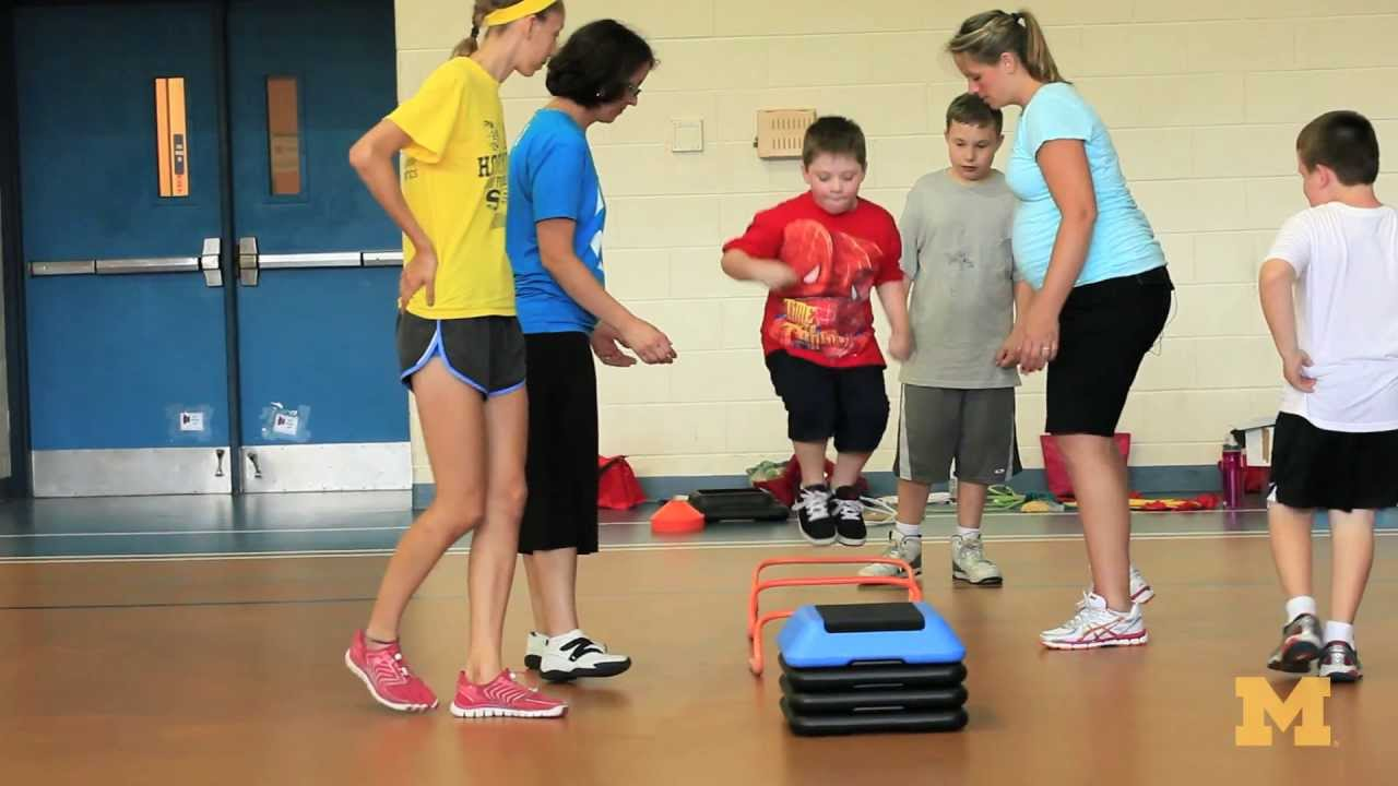 hight resolution of strength and agility exercises for kids