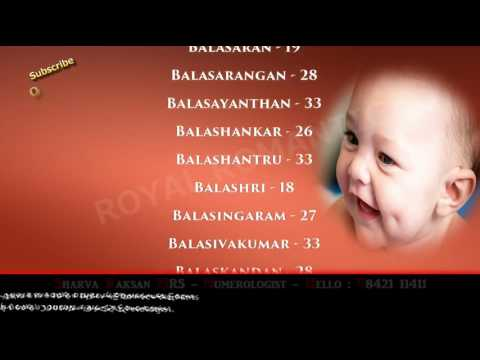 BOY BABY NAME STARTING WITH B- 9842111411 - HINDU INDIAN TAMIL SANSKRIT  MODERN LORD GOD NAME