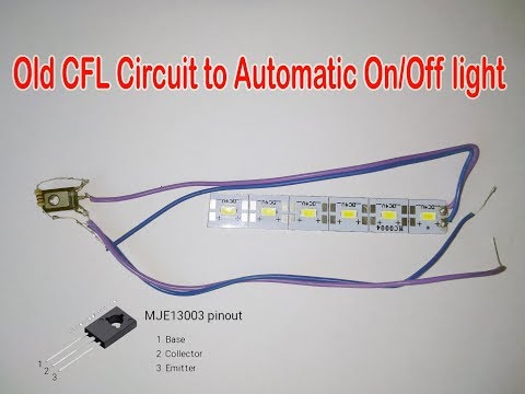 Old CFL Circuit to Automatic On/Off light