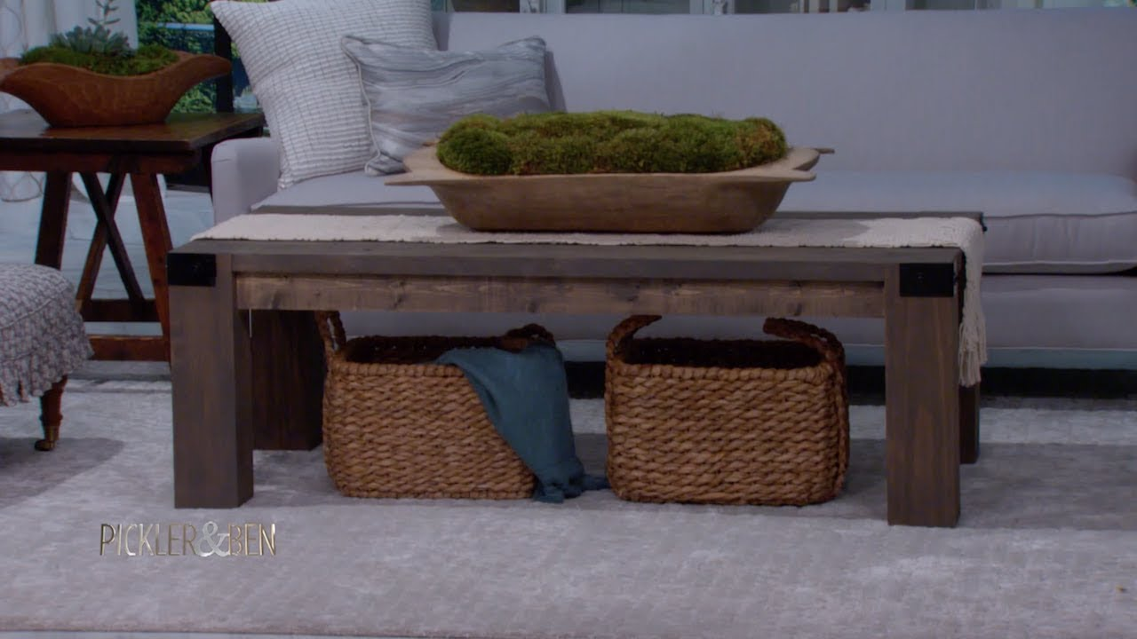 here 39 s how to make your own chic wooden coffee table youtube. Black Bedroom Furniture Sets. Home Design Ideas