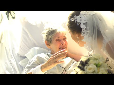 Wedding Surprise Hospital Visit: Bride brings sick Grandma to tears!